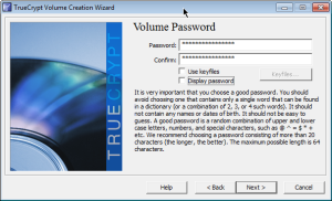 TrueCrypt PASSWORD do VOLUME