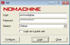 Ligação ao servidor NX Free